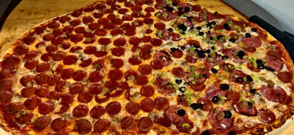 pizza party challege huge pepperoni combonation happy valley anderson ca nor cal great food large